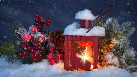 Christmas light - christmas eve, colorful, lamp, glow, lantern, christmas, beautiful, magic, splendor, snow, christmas night, color, scene, light