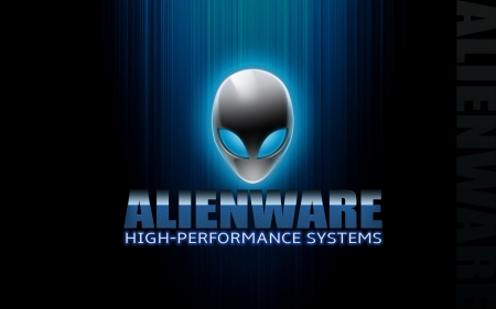 alienware - metal, didis, alien, blue