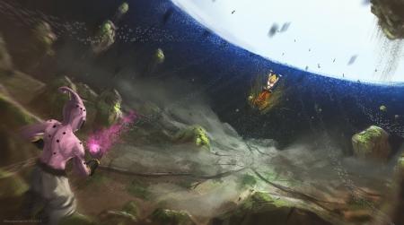 Buu Vs Spirit Bomb Dragonball Anime Background Wallpapers On