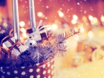 Lights and garlands of Christmas