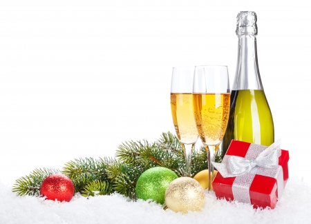 Happy Holidays - christmas, glasses, new year, happy new year, xmas, merry christmas, balls, magic christmas, champagne