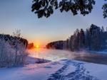 sunset-winter