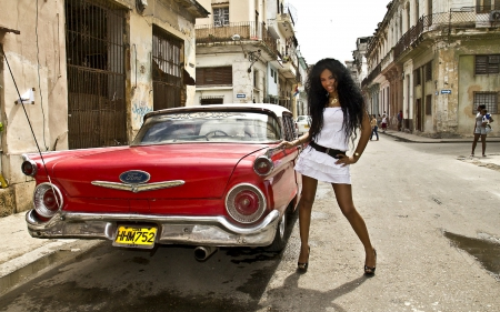 wallpaper for girls cuban car and gorgeous cuban model and cars amp cars 31327