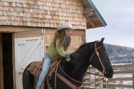 Heartland: Amy and Spartan - acting, ty, graham wardle, amber marshall, horses, heartland, tv series, amy, spartan