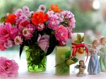 Lovely flowers with angels