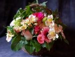 A basket of lovely  flowers