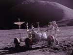 Apollo 15 drive on the moon