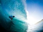 surfing the ocean waves