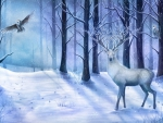 The white stag of winter