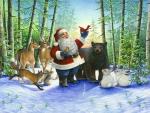 Santa's christmas morning