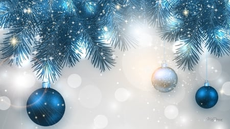 Blue christmas shine winter & nature background wallpapers on