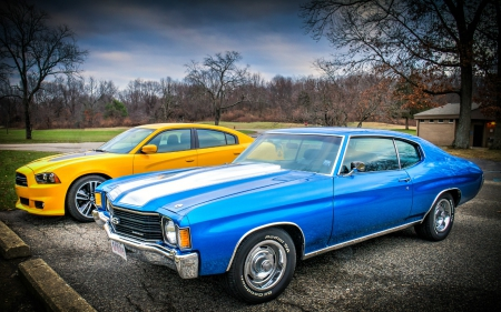 2012 Charger Super Bee & 1972 Chevelle SS - 1972, Cars, 2012, Chevelle, Charger