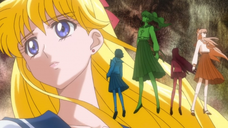 Minako - minako, pretty, mizuno, ami, sweet, magical girl, nice, group, makoto, rei, anime, sailor moon, anime girl, long hair, sailormoon, female, lovely, ami mizuno, short hair, girl