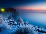 Snowy coast