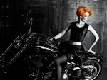 Redhead on a Harley