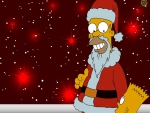 the simpsons santa clause