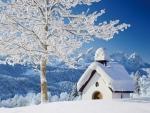 Chappel in Winter Landscape