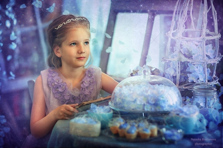 Dreams are wishes   - fantasy arts, girl, lovely image, magic dreams, wishes