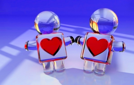 From heart to heart - two, friendship, wallpapers, love, heart, abstract, from, other