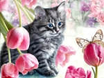 Cat and Tulips F1
