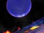 surface of Venus looking towards Neptune