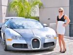 Bugatti with Model Kendall