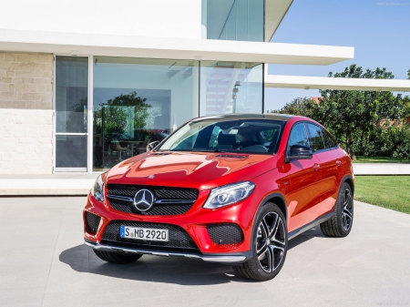 Mercedes-Benz-GLE450_AMG_Coupe_2016 - red, suv, fast, car
