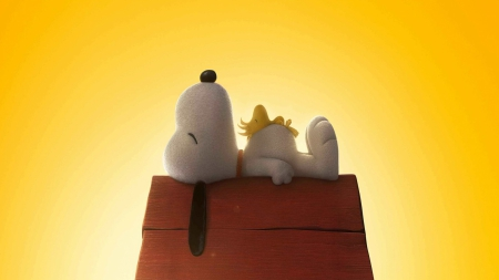 Naptime for Snoopy and Woodstock - snoopy, woodstock, 3D and CG, abstract