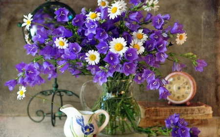 Still life - flowers, still life, purple flowers, purple