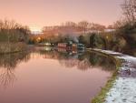 river boats at dusk