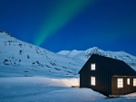 Northern Lights over Icelandic House