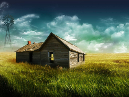 The Farm House - farm house, wallpaper