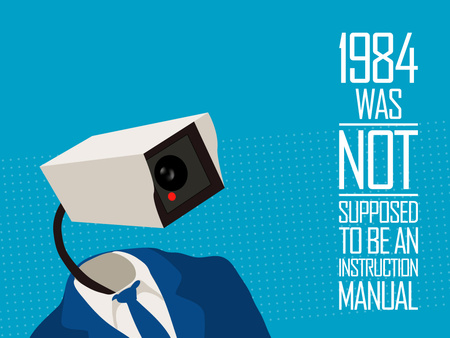 1984 - Not an Instruction Manual - camera, manual, instruction, vector, instruction manual, 1984 camera, political, 1984, text, literary
