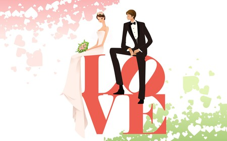 Marriage - married, love, wedding, marriage, vector, wds, widescreen
