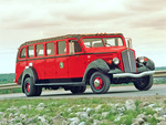 White GNP Red Bus 1930