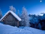 Old Barn on Winter Mountain