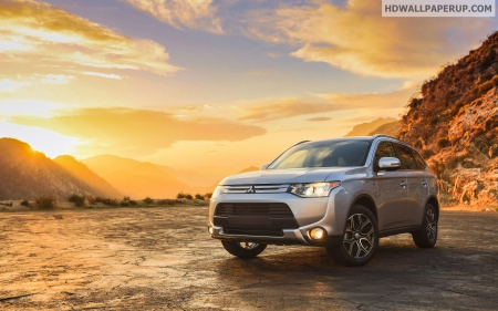 mitsubishi_outlander_gt_usa_version - mitsubishi, Sunrise, Car, Sky