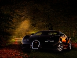 Autumn Scene with a Bugatti
