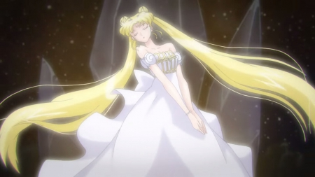 Serenity - pretty, dress, glow, blond, beautiful, sweet, nice, twin tail, anime, sailor moon, beauty, anime girl, long hair, gorgeous, sailormoon, female, lovely, twintail, glowing, gown, blonde, blonde hair, twintails, twin tails, blond hair, girl, serenity, princess, angelic