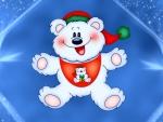 Cute teddy santa