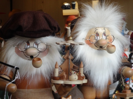 Old Timers - dolls, timers, christmas, fun, old, wood, puppets
