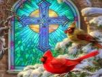 Christmas Church Window