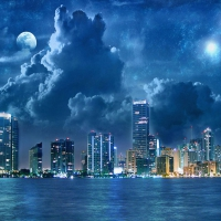 Stormy Sky over Cityscape
