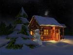 Christmas Log Cabin