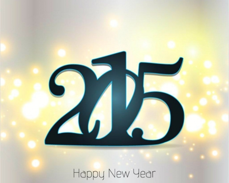 Happy New Year - sparks, Holiday, New Year, 2015