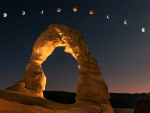 Lunar Eclipse at Delicate Arch