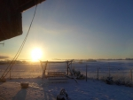 The winter sunrise.