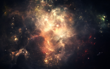 Nebulae Galaxy - gases, Nebulae Galaxy, multicolor, space, nebulae, graphics, galaxies