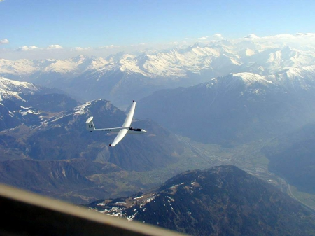 Glider - Glider, Mountains, Snow, Thermals