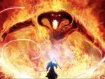 gandalg and balrog in lord of the rings